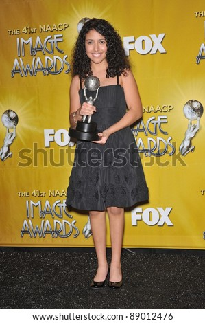 Caitlin Sanchez at the NAACP Image Awards at the Shrine Auditorium. February 26, 2010  Los Angeles, CA Picture: Paul Smith / Featureflash