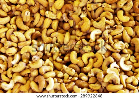 Caju nuts background - stock photo