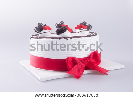 cake, birthday Ice-cream cake on background