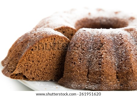 Cake, cook, isolated. - stock photo