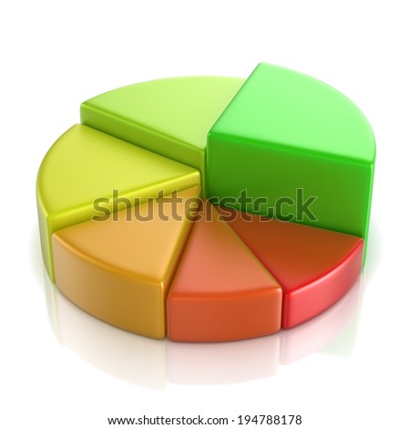 Cake diagram 3D, on isolated background