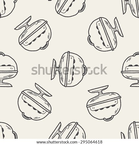 cake doodle seamless pattern background