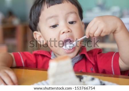 Cake eaten. - stock photo