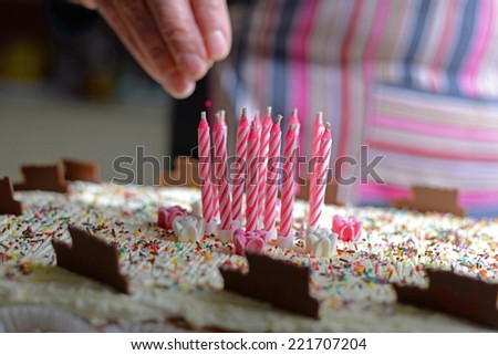 Cake for Birthday party. - stock photo