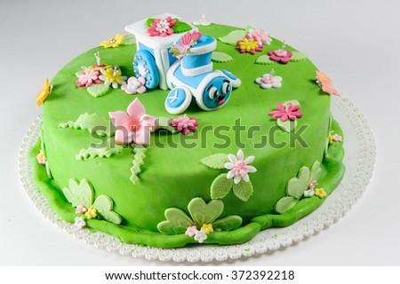 Cake for children - stock photo