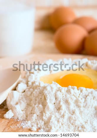 Cake ingredients close up - stock photo