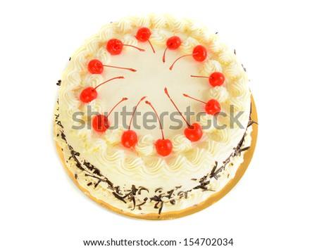 Cake isolate white background - stock photo