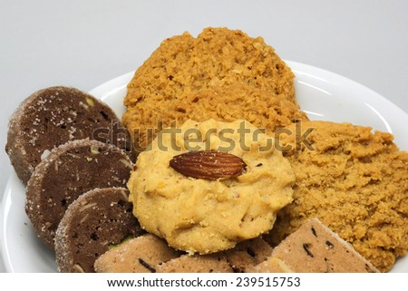 Cake isolated and cookie for party birthday.