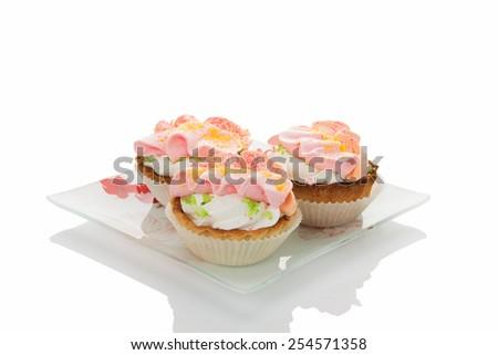 Cake on a white background - stock photo