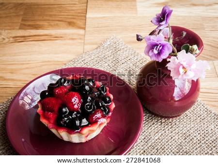 cake or cupcake tea service set - stock photo