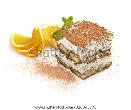 Cake studio shooting on white background with pen clipping path included