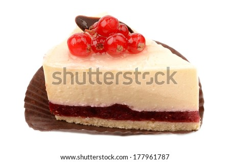 Cake with currant