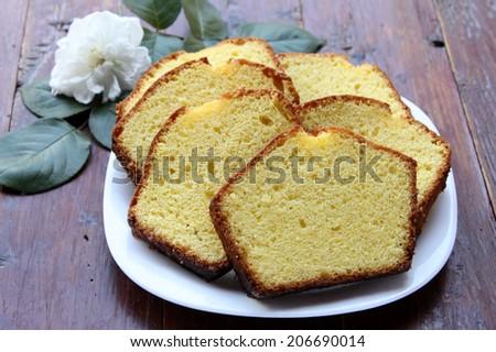 Cake with lemon - stock photo