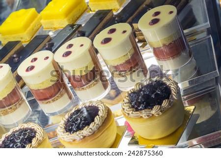 cakes assortment - stock photo