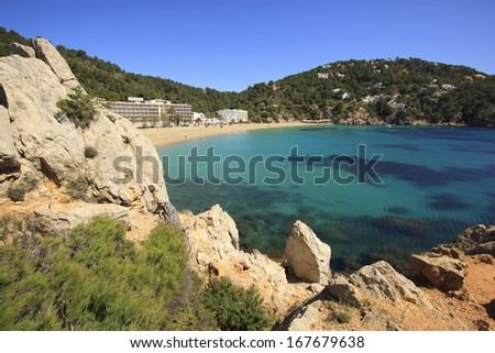 Cala de Sant Vicent, Ibiza Spain,Eivissa - stock photo