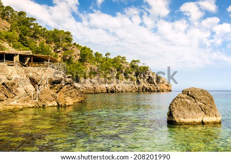 Cala Deia beach - stock photo