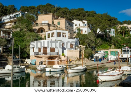 Cala Figuera old traditional fishing village in Mallorca island, Spain - stock photo