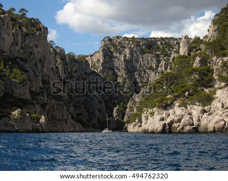 calanques are fjords or rock inlets in the mediterranean between marseilles and cassis france