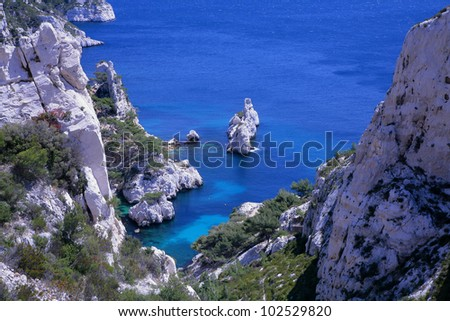 Calanques in France near Marseille
