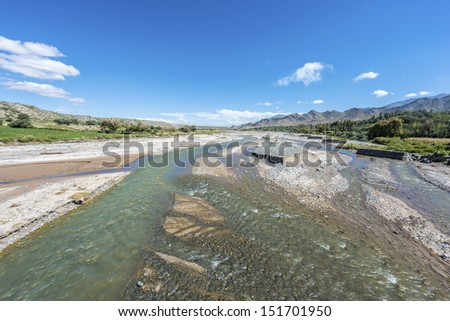 Calchaqui River along Calchaqui Valleys in Salta Province, northern Argentina