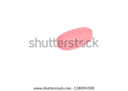Calcium on a white background. - stock photo