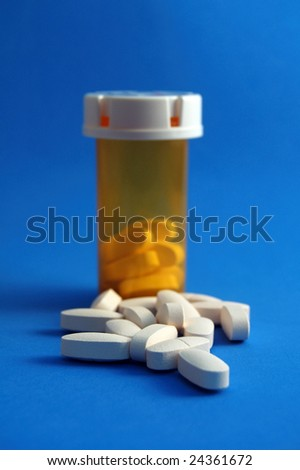 Calcium Pills and Bottle
