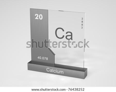Calcium Symbol Ca Chemical Element Periodic Stock Illustration