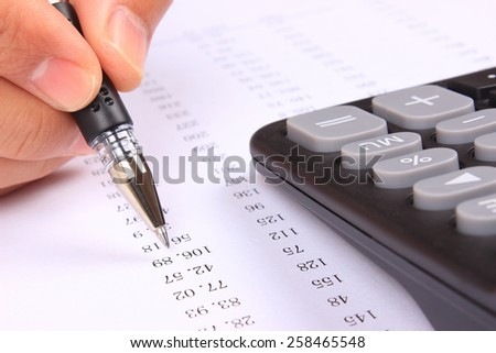 Calculating data - stock photo