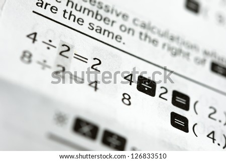 calculating formula - stock photo