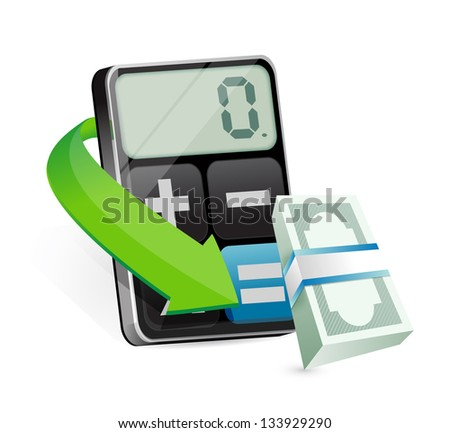 calculating profits illustration design over a white background - stock photo
