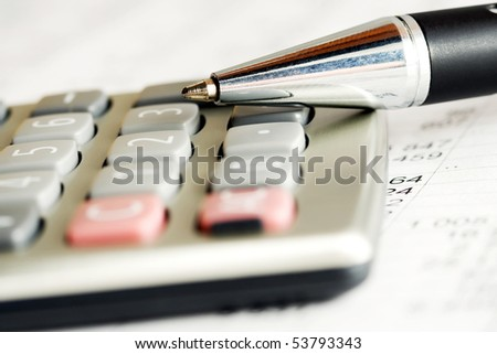 Calculation. - stock photo