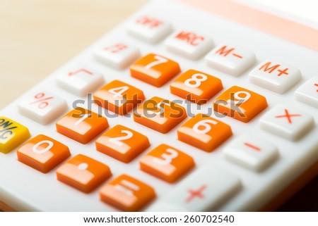 Calculator, accounting, modern. - stock photo
