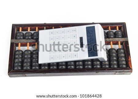 Calculator and abacus