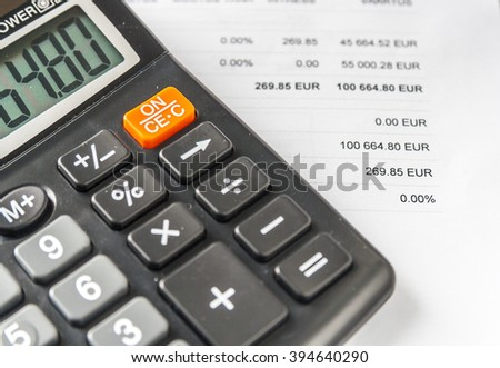 Calculator And Business Document