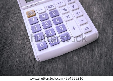 calculator and finance and digital