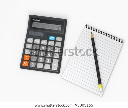 Calculator and notebook 1