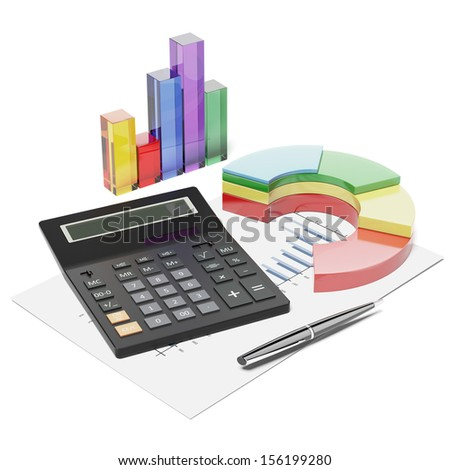 Calculator, chart and graphics