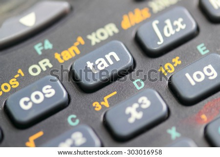 how to use sine cosine and tangent on a calculator