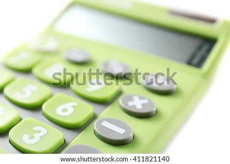 Calculator, closeup - stock photo