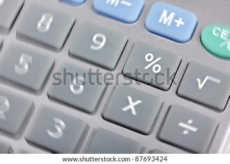 Calculator, focus on button percents