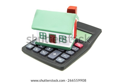 calculator  for mortgage calculator - stock photo