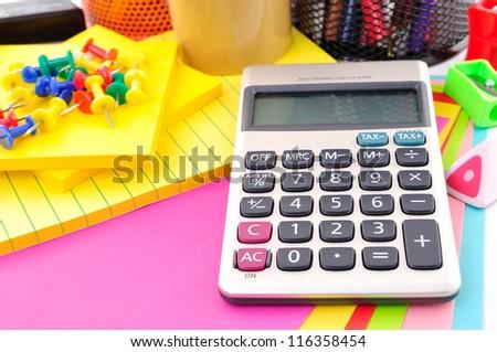 calculator in education - stock photo