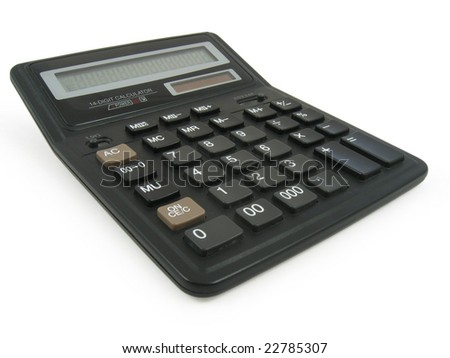 Calculator in white background