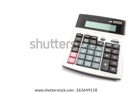 Calculator isolate on a white background - stock photo