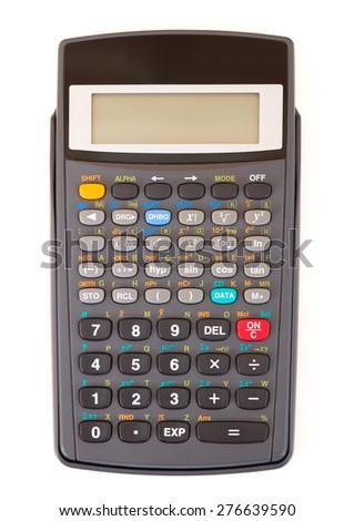 Calculator isolated - stock photo