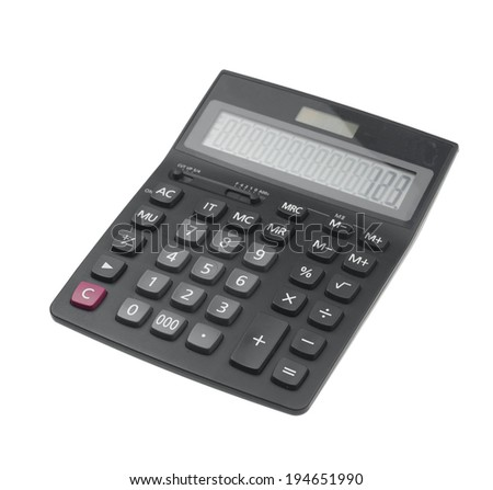 calculator isolated on white