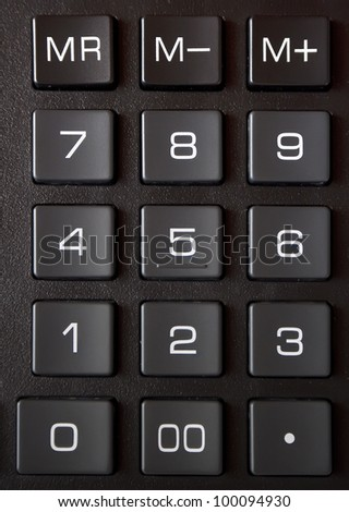 Calculator keyboard close-up