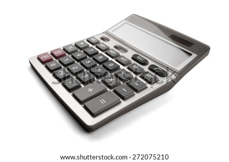 Calculator, math, mathematics. - stock photo