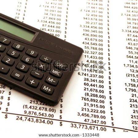 calculator money finance - stock photo