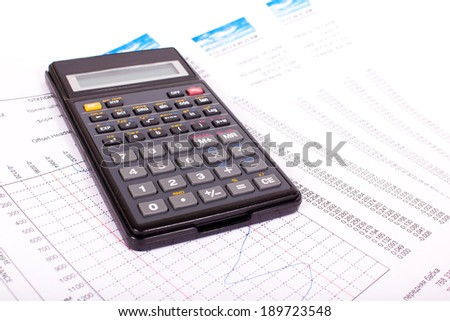 calculator of paper write documents and figures